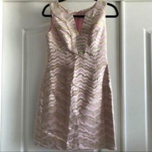 Lilly Pulitzer Pink Gold Metallic Sleeveless Dress